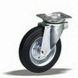 Серия 10 — колеса для тележек на резине, диск сталь