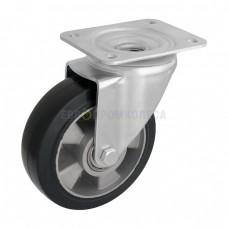 Колесо на эластичной резине в поворотном усиленном кронштейне на площадке 2024250 ШМ