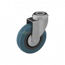 Колесо из полипропилена в поворотном кронштейне с отверстием 6081075 СК