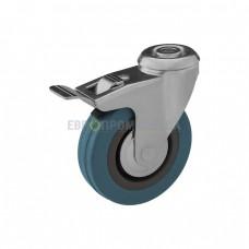Колесо из полипропилена в поворотном кронштейне с отверстием и тормозом 6091075 СК