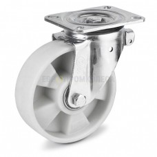 Polyamide wheel in swivel duty bracket with pad 3124200 BE