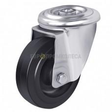 Колесо на термостойком силиконе в поворотном термостойком кронштейне на тефлоновой втулке с отверстием 6787100 СТ