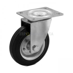 Wheel on a black rubber in swivel bracket with pad 1020125 RС