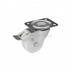 Колесо для тележек из полиамида в поворотном кронштейне с площадкой и тормозом 3030080 СЕ