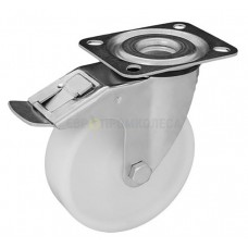 Колесо для тележек из полиамида в поворотном кронштейне с площадкой и тормозом 3031150 СК