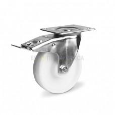 Колесо для тележек из полиамида в поворотном кронштейне с площадкой и тормозом 3031150 СЕ