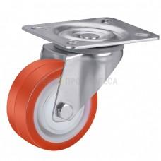 Колесо из полиуретана в поворотном кронштейне с площадкой 4321080 ШЕ