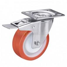 Колесо из полиуретана в поворотном кронштейне с площадкой и тормозом 4331080 ШЕ