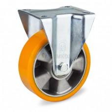 Колесо из полиуретана в неповоротном усиленном кронштейне 5014160 ШЕ