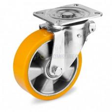Колесо из полиуретана в поворотном усиленном кронштейне с площадкой 5024160 ШЕ