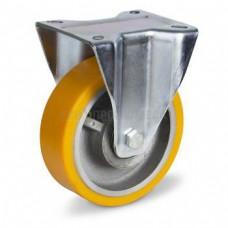Колесо из полиуретана в неповоротном усиленном кронштейне 5114125 ШЕ