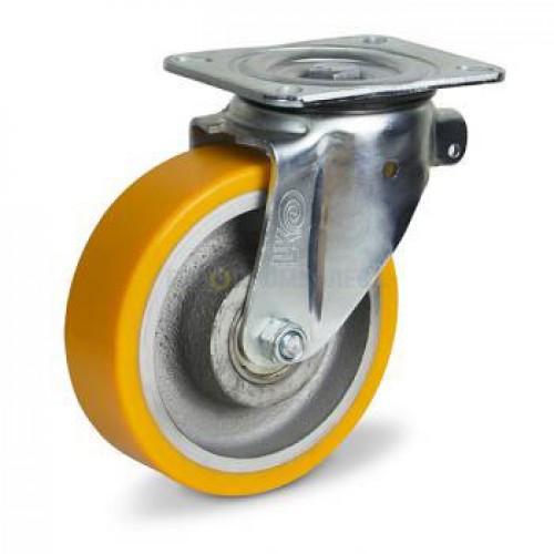 Колесо из полиуретана в поворотном усиленном кронштейне с площадкой 5124200 ШЕ