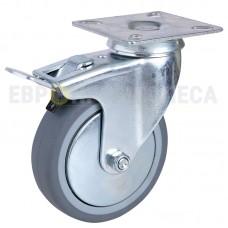 Колесо из полипропилена в поворотном кронштейне с площадкой и тормозом 6030050 СК