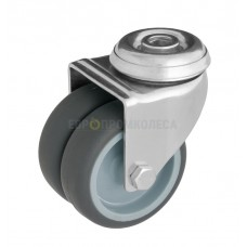 Колесо из полипропилена в поворотном кронштейне с отверстием 6082050 CK