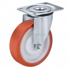 Колесо из полиуретана в поворотном кронштейне с площадкой 4320125 ШЕ