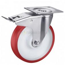 Колесо из полиуретана в поворотном кронштейне с площадкой и тормозом 4330160 ШЕ